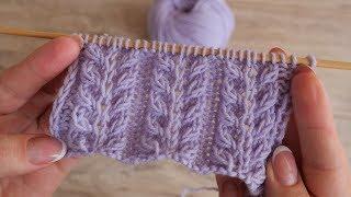 Объёмный узор «Гиацинт» спицами | «Giacint» knitting patterns