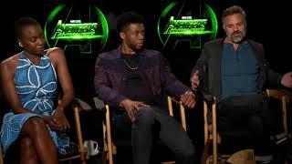 Avengers Infinity War • Mark Ruffalo •  Chadwick Boseman •  Danai Gurira