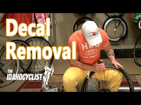How To Remove Install Bike Decals Decal Removal Hacks Youtube