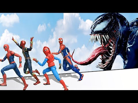 Hulk Vs Superhero Spider-man Swingmming Pool In The Spider-Verse Figure Stopmotion