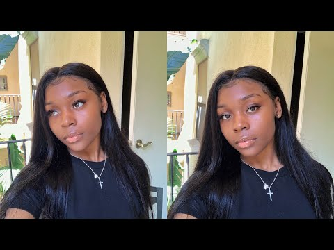 Best Full Lace Wig | Straight Hair Ft Celie Hair | Jet Black Wig In Minutes!