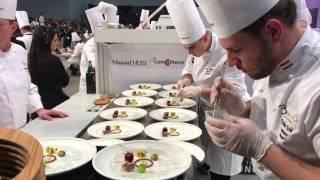 A magyar Bocuse d'Or csapat ételeinek tálalása (4360)