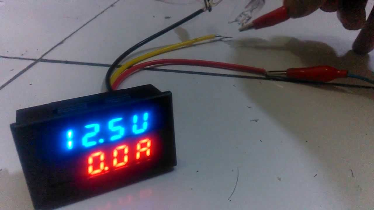 maxresdefault dual led digital voltmeter ammeter ( volt & ampere tester) youtube car voltage meter wiring diagram at mifinder.co