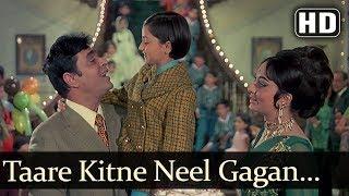 Taare Kitne Neel Gagan Pe (HD) - Aap Aye Bahaar Ayee Songs - Rajendra Kumar - Sadhana - Old Song