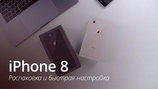 iPhone 8: распаковка и быстрая настройка