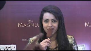Magnum Ice Cream Launch  in Hyderabad | Trisha