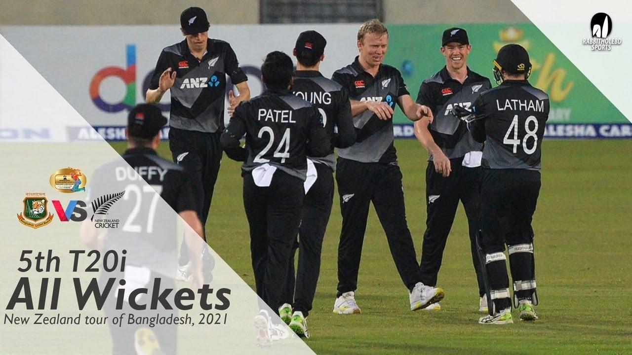 All Wickets || Bangladesh vs New Zealand || 5th T20i || New Zealand Tour of Bangladesh 2021