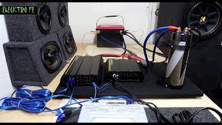 Como conectar 2 Amplificadores uno para subwoofer y otro para bocinas