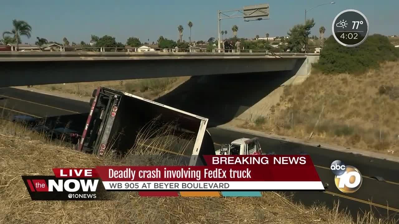 Deadly crash involving FedEx truck on SR-905