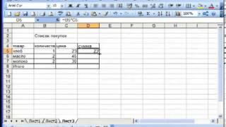 Создаем простейшую таблицу в программе Excel