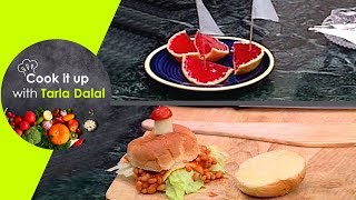 Cook It Up With Tarla Dalal Ep 12 Cheesy Vegetable Pasta, Bean & Cheese Burgers and Jelly Boats