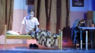 Мюзикл Баллада о Маленьком Сердце - Снег такой что спать нельзя+Болезнь Лёшки (Фрагмент) 27.12.2015