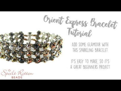 Orient Express Bracelet - Right Angle Weave & Ladder Stitch