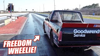 homepage tile video photo for The Dale Truck Just CRUSHED Its Fastest Pass Ever!!! (all the nitrous)