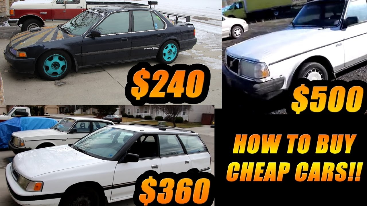 How To Buy Cars DIRT CHEAP YouTube - Cheap cars
