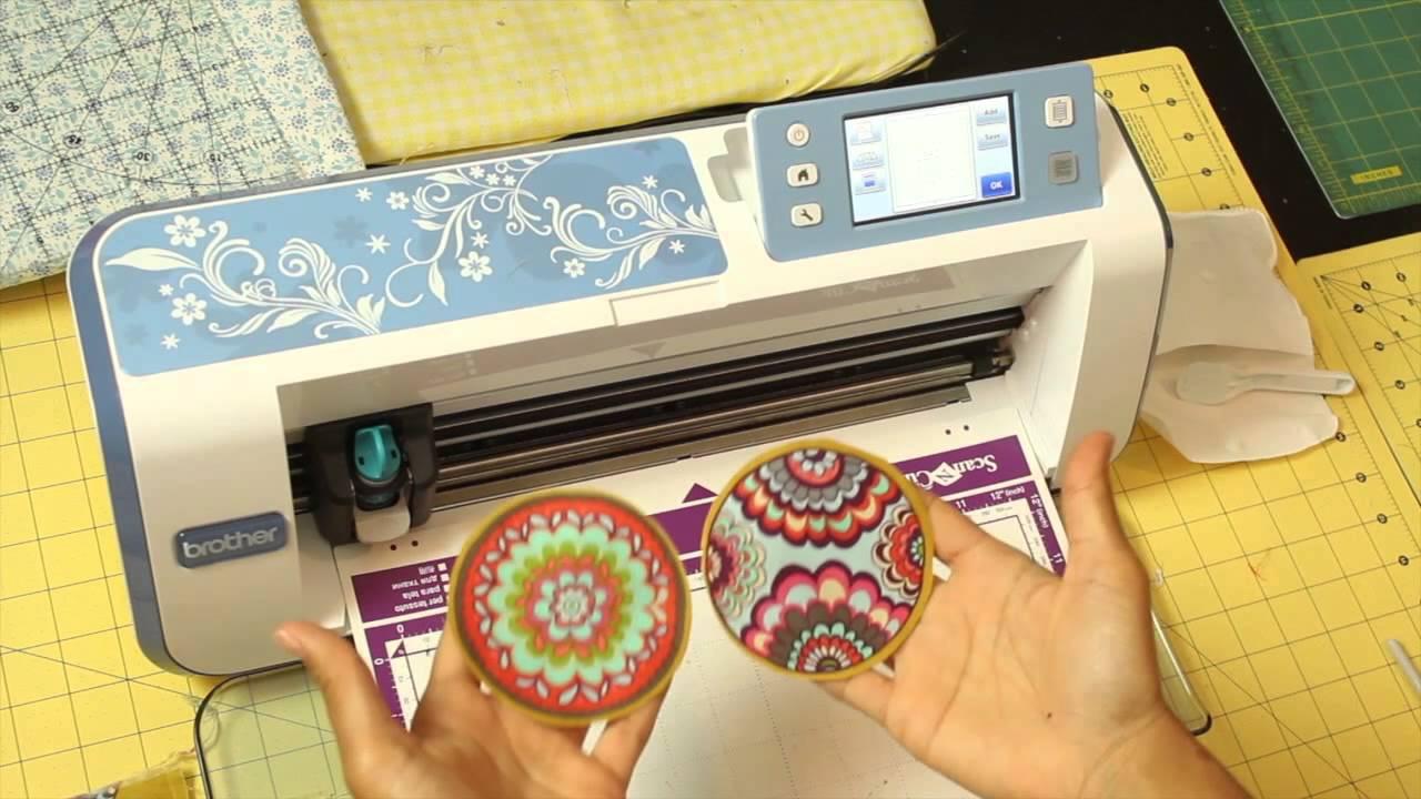 How to make a Fabric Keychain- Scan N Cut DIY Tutorial
