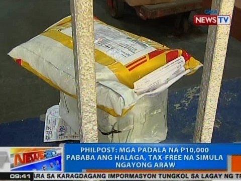 NTG: PhilPost: Mga padala na P10k pababa ang halaga, tax-free na simula ngayong Martes