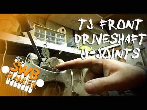 Jeep Wrangler TJ Front Driveshaft U-joint replacement Part1 Disassembly