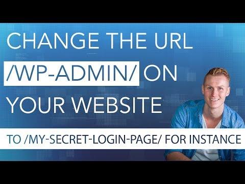 Change Your Wordpress URL /wp-admin/
