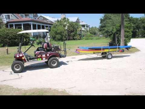 SUP Dawg Draft - YouTube Golf Cart Hauling Deer Stand on bus deer stand, wheelchair deer stand, golf cart deer lift,