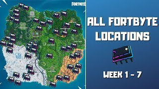 All Fortbyte Locations (week 1-7)! Every Hidden Fortbyte in Fortnite! - Fortbyte Challenges Season 9