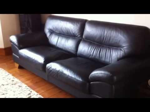 Leather sofa video