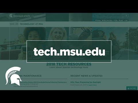 IT Resources on Tech.msu.edu