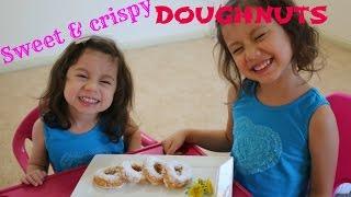 Homemade DOUGHNUTS DONUTS recipe with Hanna and Mia