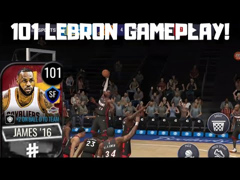 101 LEBRON JAMES GAMEPLAY IN NBA LIVE MOBILE 20!!!
