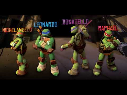 names of teenage mutant ninja turtles with color of bandana they