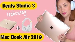 UNBOXING Mac Book Air 2019 and Beats Studio3 Wireless Headphones | First Impression