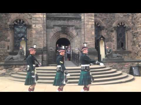 Changing of Guard in Edinburgh Castle