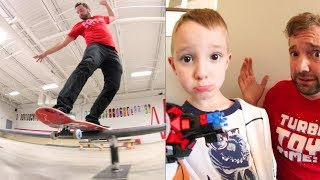 DAD & SON LEGO TIME! / Skateboarding At Work!