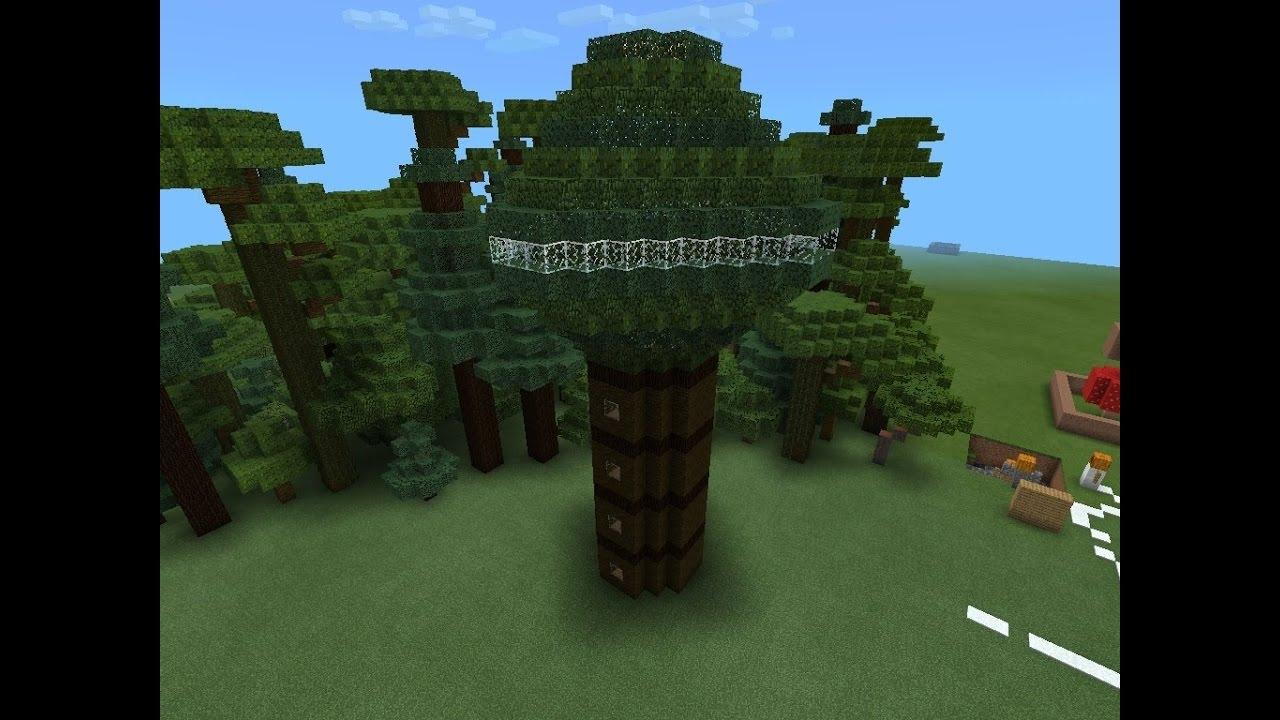 стакане домик на дереве в майнкрафт для начинающих климат