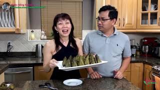 Hái Lá Chuối Gói Bánh Ít Lá Cẩm, Lá Dứa Miền Tây Tuyệt Ngon 🇨🇦410》 Vietnamese Glutinous Rice Cake