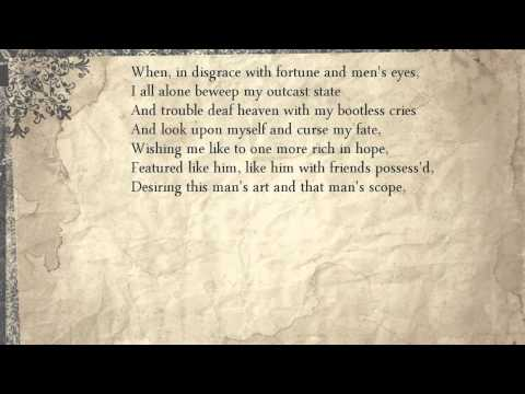 Sonnet 29: When, in disgrace with fortune and men's eyes