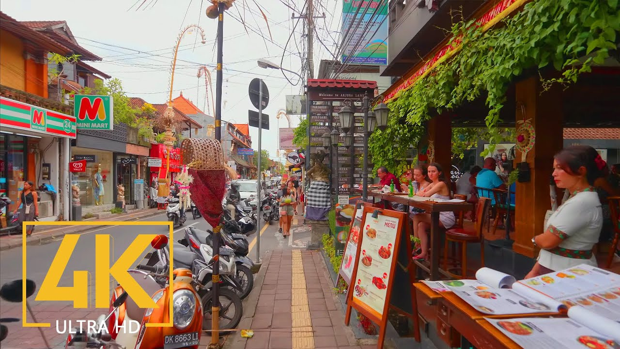 4K Virtual Walking Tour through Culture Center of Ubud, Bali, Indonesia - City Walks