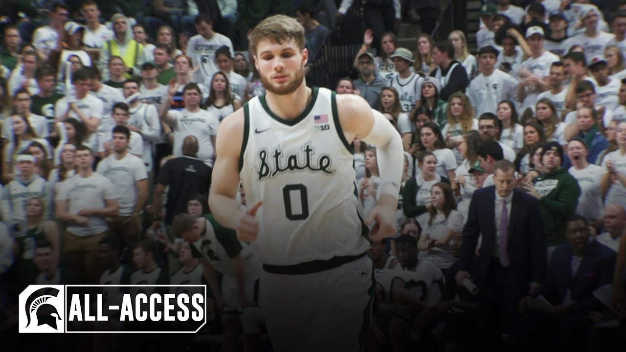 MSU's Matt McQuaid told Kyle Ahrens: 'I'm about to go off.' Then he did