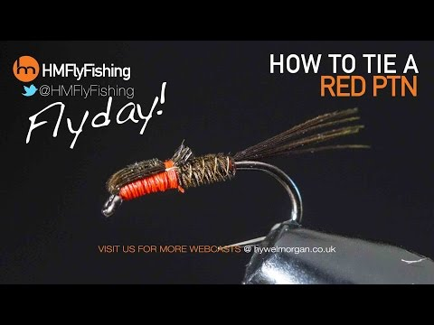 Red PTN - Pheasant tail nymph fly pattern