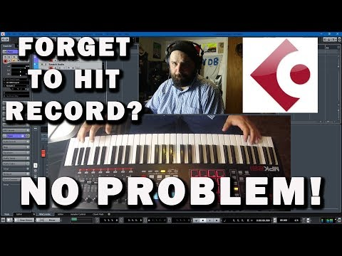 Cubase Tutorial: FORGET TO HIT RECORD?  No Problem...