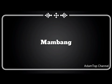 (Lirik Video) Mambang - Altimet
