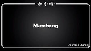 (Lirik Video) Mambang - Altimet