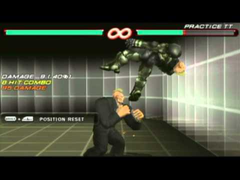 Fun with Tekken 6 PSP tag cheat, Jack/Moku-Jack infinite combo.