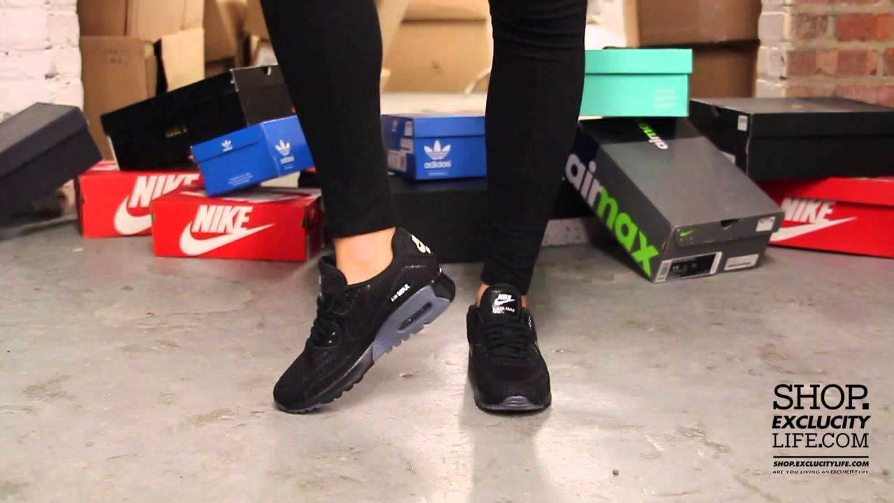 Women s Nike Air Max 90 Ultra BR Black White On feet Video at Exclucity 27140c0316