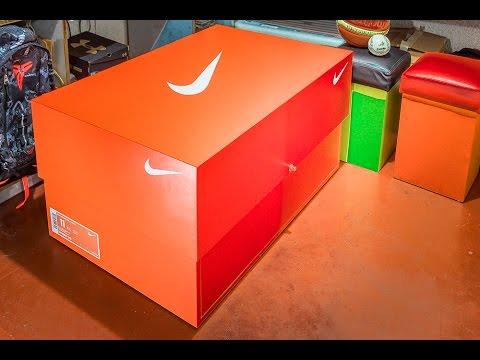 Sneaker storage box gigante inspirado em caixa de air j for Schuhschrank nike
