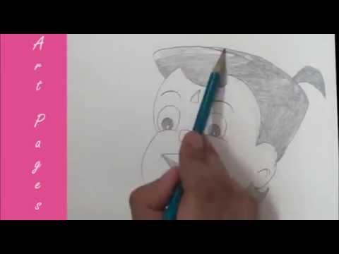 how to draw dholu bholu step by step