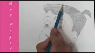 How To Draw Chhota Bheem of Dholakpur / Drawing Lesson for Kids