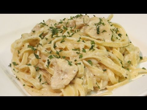 How to make Chicken Fettuccine Alfredo - Fettuccine Alfredo Recipe - YouTube