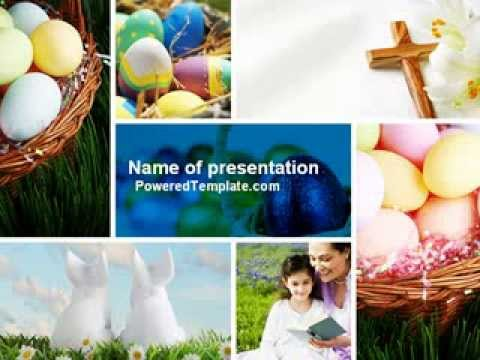 Free Easter Sunday PowerPoint Template By PoweredTemplate.com