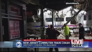 Train crashes into New Jersey station; 1 dead, 100-plus hurt